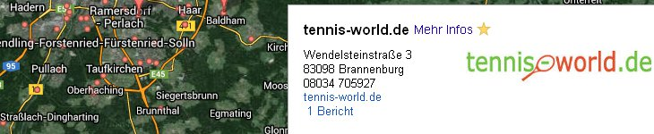 Tennis Shop Brannenburg bei Prien über Bernau nach Rosenheim