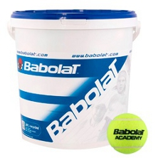 Babolat Academy Trainingsbälle drucklos 72er Eimer, Balleimer