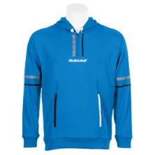 Babolat Kapuzensweatshirt Herren Performance blau, Tennismode hochwertig Men Sweat