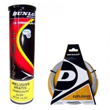 Dunlop Fort Tournament 4er plus 1 Set Explosive Tennissaite gratis winterspezial