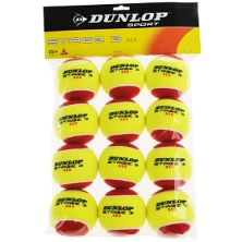 Dunlop Stage 3 Shortex Ball 12er Schaumstoffball Tennisbälle