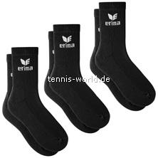 Erima Basic Sportsocken 3er in schwarz von Erima