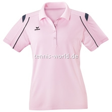 Erima Polohemd Nanoline Girls in rose-anthrazit-schwarz von Erima