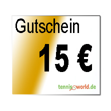 Der Geschenk Gutschein in H�he von 15 Euro ist ein Service von Tennis-World.