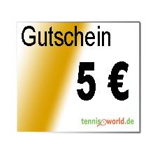 Der Geschenk Gutschein in Höhe von 5 Euro ist ein Service von Tennis-World.de