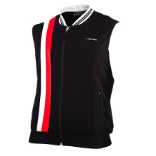 Head Club Men Haddow Court Vest schwarz/rot 2013 Tennisbekleidung
