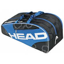Head Elite Monstercombi schwarz/blau Tennistasche