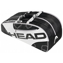 Head Elite Monstercombi schwarz/weiss Tennistasche