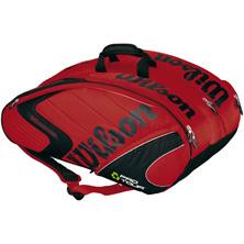Wilson Eco Pro Tour 6 Thermal Tasche rot von Wilson